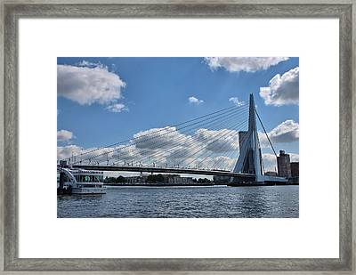 Erasmusbrug Framed Print by Steven Richman