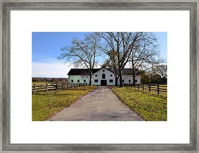 Erdenheim Farm Equestrian Stable Framed Print by Bill Cannon