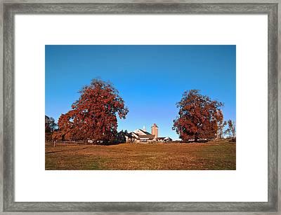 Erdenheim Farm In Autumn Framed Print by Bill Cannon