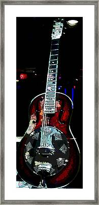Eric Clampton's Guitar Framed Print by David Alvarez