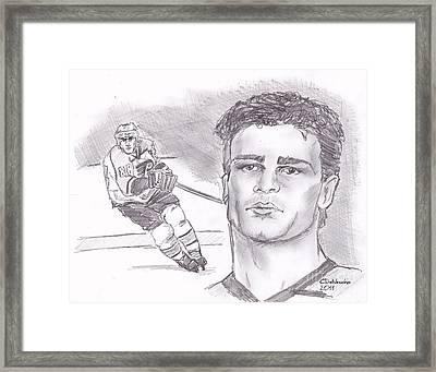 Eric Lindros Framed Print by Chris  DelVecchio