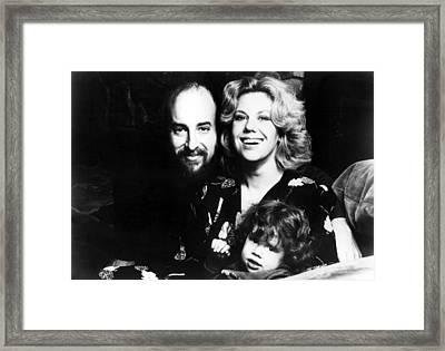 Erica Jong, Author, And Family--husband Framed Print by Everett