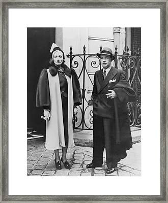 Erich Maria Remarque 1898-1970 Framed Print by Everett