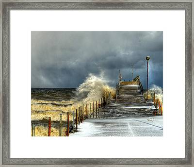 Erie Storm Framed Print