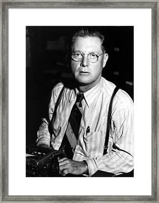 Erle Stanley Gardner, Circa 1940s Framed Print by Everett