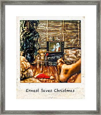Ernest Saves Christmas Framed Print by Lou  Novick