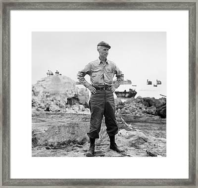 Ernie Pyle (1900-1945). American Journalist. Photograph, C1942 Framed Print by Granger
