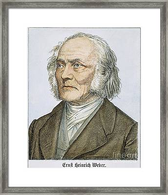 Ernst Heinrich Weber Framed Print by Granger