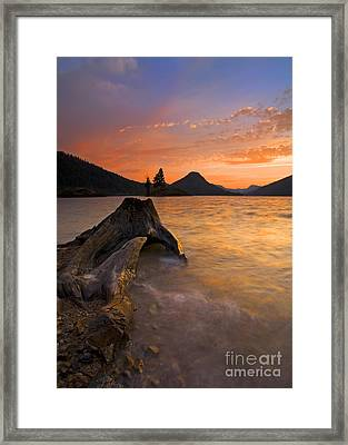 Eroded Away Framed Print by Mike  Dawson