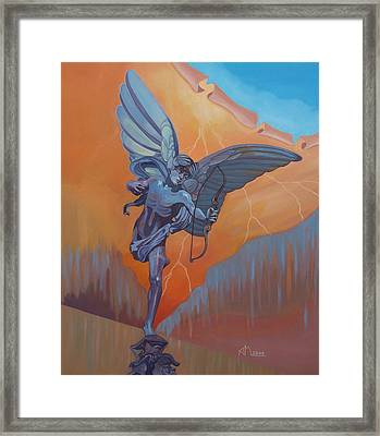 Eros - London Framed Print