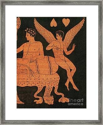 Eros, Greek God Of Love Framed Print by Photo Researchers