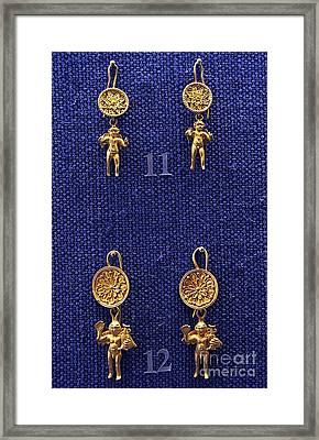 Erotes Earrings Framed Print by Andonis Katanos