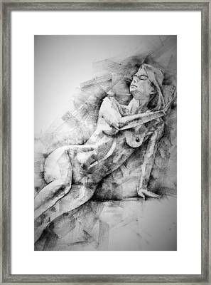 Erotic Sketchbook Page 2 Framed Print