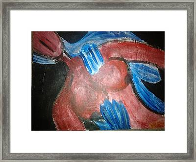 Erotic Framed Print by Violette Meier
