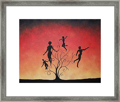 Framed Print featuring the painting Errant Souls by Edwin Alverio