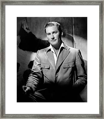 Errol Flynn, 111943 Framed Print
