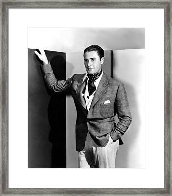 Errol Flynn, 1930s Framed Print