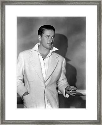 Errol Flynn, May, 1938 Framed Print by Everett