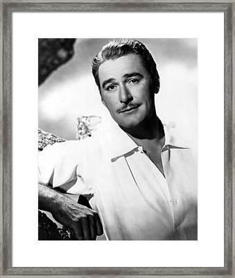 Errol Flynn, Warner Brothers, 1940s Framed Print by Everett
