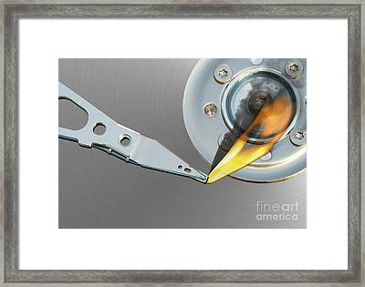 Error Framed Print by Michal Boubin