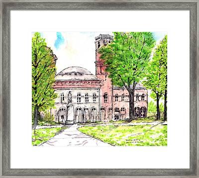 Erskine Building Erskinecollege Framed Print