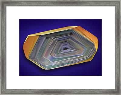 Erythritol Crystal, Sem Framed Print by David Mccarthy
