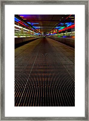 Escalator View ... Framed Print