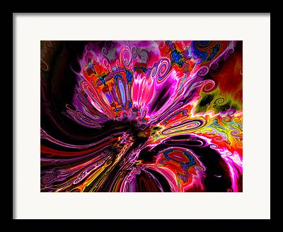 Colorful Abstract Algorithmic Contemporary Framed Prints