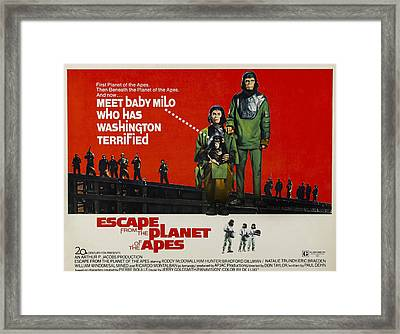 Escape From The Planet Of The Apes, L-r Framed Print by Everett