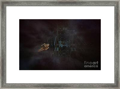 Escape In Space Framed Print by Jan Willem Van Swigchem