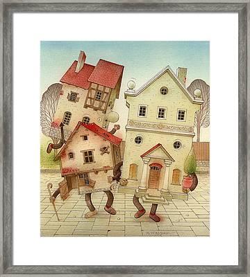 Escaped Houses Framed Print by Kestutis Kasparavicius