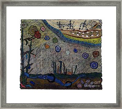 Escaping Death Framed Print by Pat Saunders-White