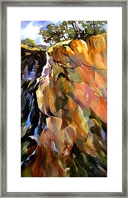 Framed Print featuring the painting Escarpment by Rae Andrews