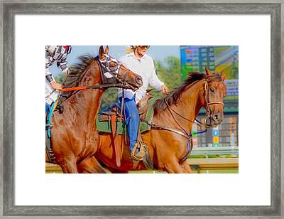 Escort Framed Print by Betsy Knapp