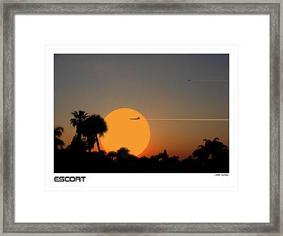 Escort Framed Print by Larry Mulvehill