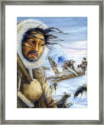 Eskimo Hunt Framed Print
