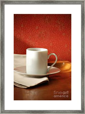 Espresso Cup Framed Print by HD Connelly