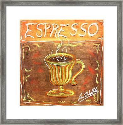 Espresso Framed Print by Lee Halbrook