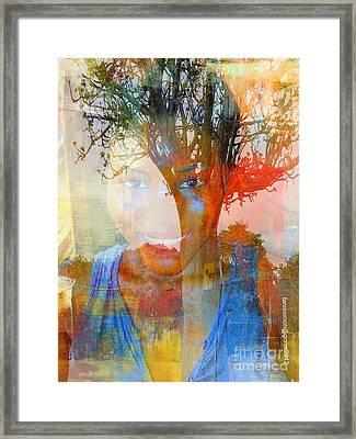 Esprit Du Baobab Framed Print by Fania Simon