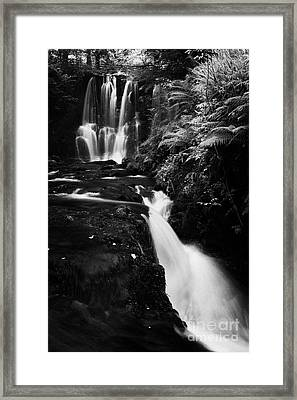 Ess-na-crub Waterfall On The Inver River In Glenariff Forest Park County Antrim Northern Ireland Framed Print by Joe Fox