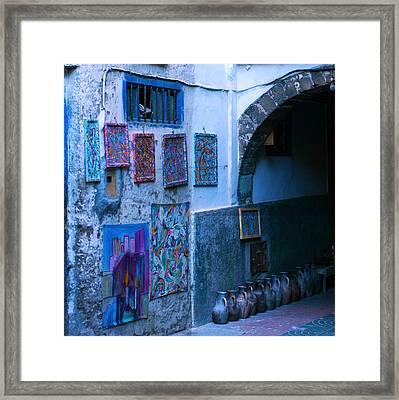 Essaouira Blue Moroccan Framed Print