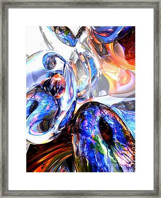 Essence Of Inspiration Abstract Framed Print by Alexander Butler