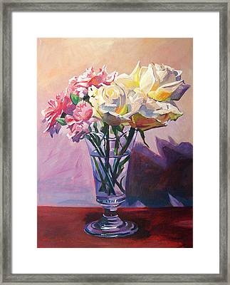 Essence Of Rose Framed Print