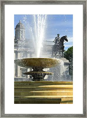 Essential Elements Of Trafalgar Square Framed Print by Vicki Jauron