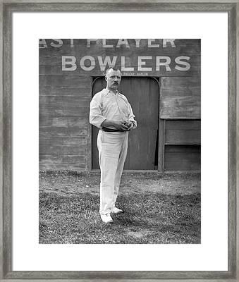 Essex Bowler Framed Print by Reinhold Thiele