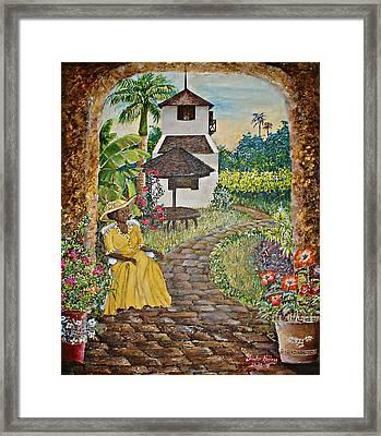 Estate Garden Framed Print