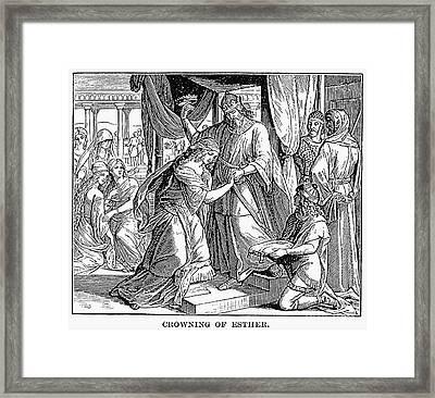 Esther & Ahasuerus Framed Print