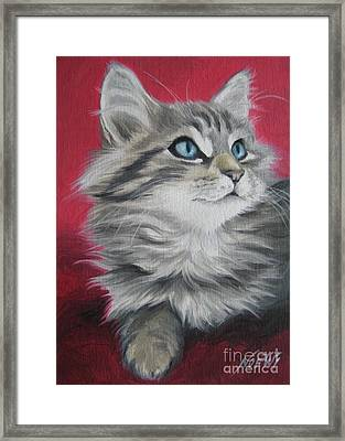Framed Print featuring the painting Estrella by Jindra Noewi