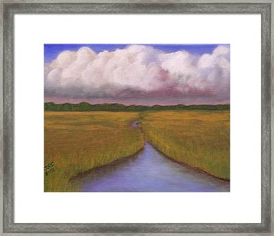 Estuary Storm Framed Print by Janet Greer Sammons