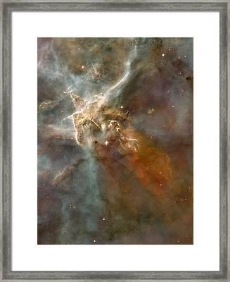 Eta Carinae Nebula, Hst Image Framed Print by Nasaesan. Smith (university Of California, Berkeley)hubble Heritage Team (stsclaura)